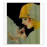 art_deco_flapper_putting_on_lipstick_shower_curtai