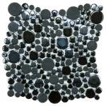 Bubble-Tile-Backsplash-With-Black-Color