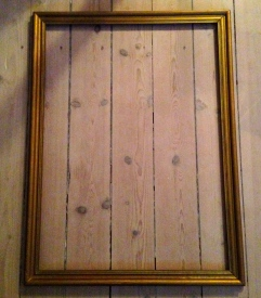Old wooden frame from a street a market