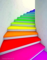 Photo: http://webneel.com/daily/rainbow-stairs