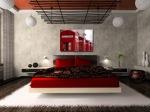 Luxurious bedroom inred