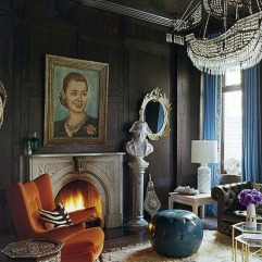 Nanette Lepore's Manhattan home designed by Jonathan Adler photo credit: William Waldron for ELLE Decor