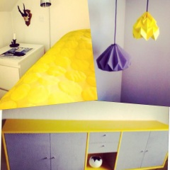 Bedcover: Instagram allosdk Lamps: Katja Poulsens home Furniture: DIY by Tenna Charlotte Küster