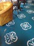 Petrol stencil floor