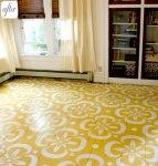 Yellow stencil floor