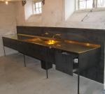 Messing køkkenbord